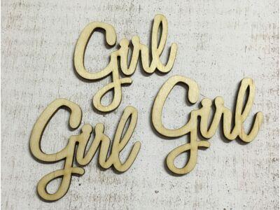 """Natúr fa - """"Girl"""" felirat  3db/csomag"""