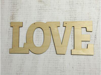 """Natúr fa - """"Love"""" felirat lyukkal 37cm"""