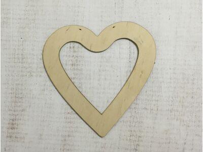 Natúr fa - szív keret 26cm