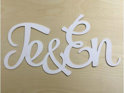 """Fa - """"Te&Én"""" felirat 74cm fehér"""