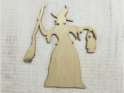 Natúr fa - Lámpás boszi 24cm