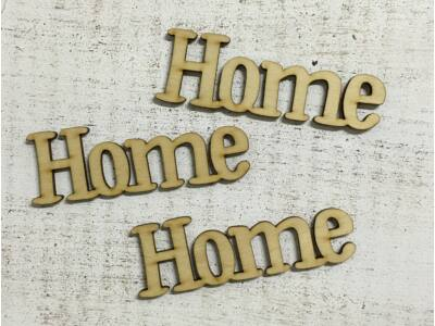 "Natúr fa - ""Home"" felirat  11cm"