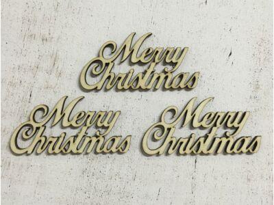 """Merry Christmas"" felirat 7,5cm"