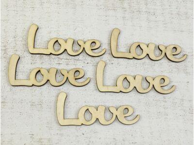 """Natúr fa - """"Love"""" felirat 9,5cm"""