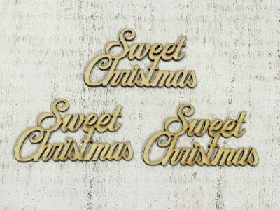 "Natúr fa - ""Sweet Christmas"" felirat"