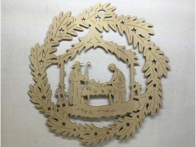 Natúr fa - Betlehemes koszorú 72cm