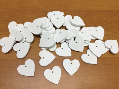 Fa szívek fehér 3cm