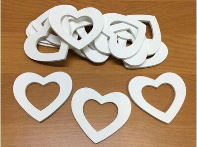 Fa lukas szívek fehér 6cm