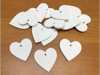 Fa szívek fehér 4cm