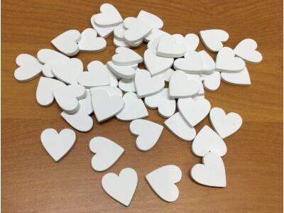 Fa szív fehér 2cm