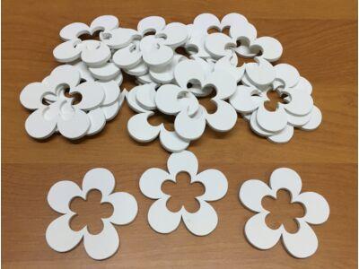Fa virág lukas fehér 5cm 20db/csomag