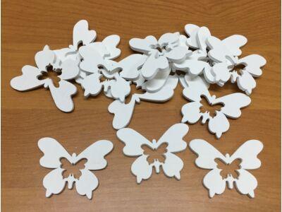 Fa pillangó fehér lukas 5cm 15db/csomag