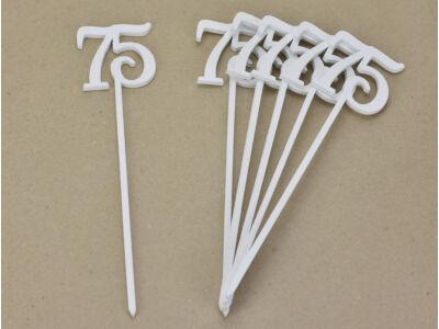 Beszúrható számok 75-ös fehér 6db/csomag