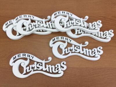 Merry Christmas íves fehér kicsi