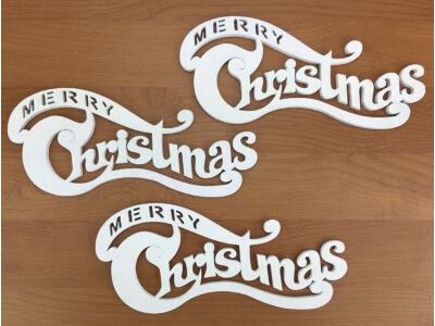 Merry Christmas íves fehér