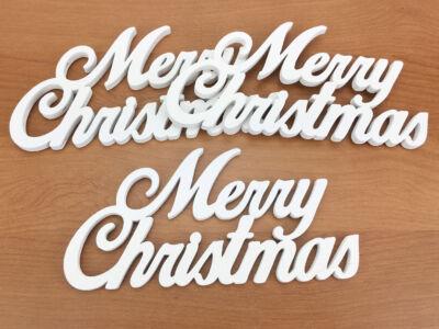 Merry Christmas felirat fehér