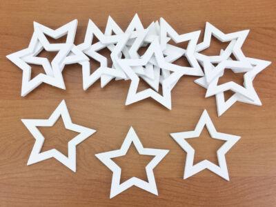 Lyukas csillag fehér 5cm