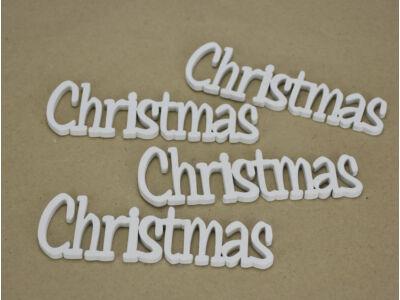 Christmas felirat fehér 15cm 4db/csomag