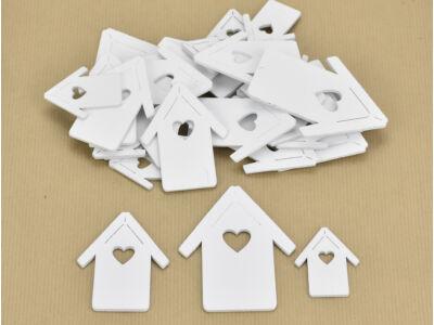 Fa házikó vegyes fehér 30db/csomag