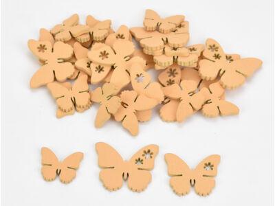 Fa virágmintás pillangó barack 30db/csomag