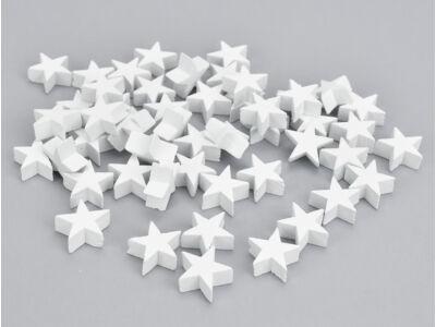 Fehér fa csillag vastag 2cm 50db/csomag