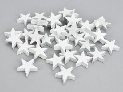 Fehér fa csillag vastag 3cm 40db/csomag