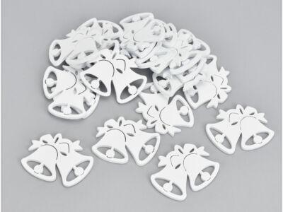 Fehér dupla harang kicsi 20db/csomag