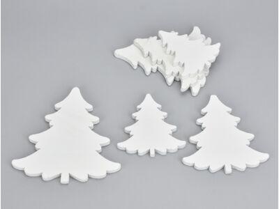 Fehér fa fodros fenyő vékony 6db/csomag