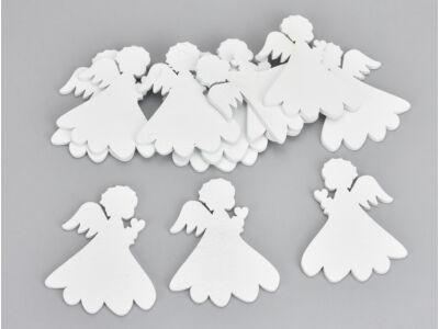 Fehér fa bájos angyal 12db/csomag