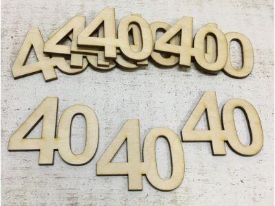 Évfordulós számok 40-es 10db/csomag