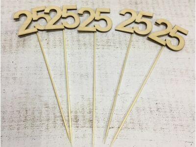 Évfordulós számok pálcikán 25-ös 5db/csomag