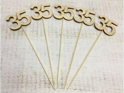 Évfordulós számok pálcikán 35-ös 5db/csomag
