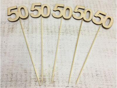 Évfordulós számok pálcikán 50-es 5db/csomag