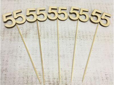 Natúr fa - Évfordulós számok pálcikán 55-ös