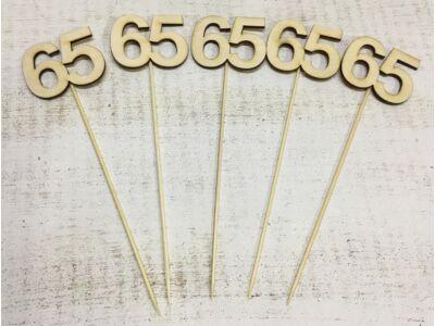 Natúr fa - Évfordulós számok pálcikán 65-ös
