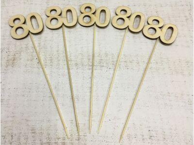 Évfordulós számok pálcikán 80-as 5db/csomag