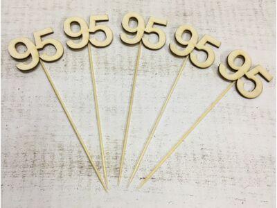 Évfordulós számok pálcikán 95-ös 5db/csomag