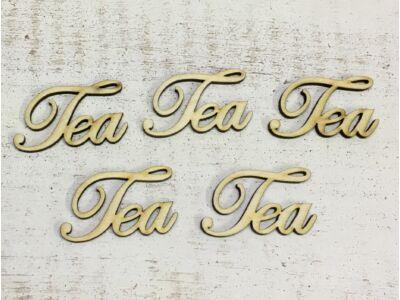 """Natúr fa - """"Tea"""" felirat 4,8cm"""