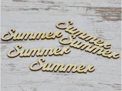 "Natúr fa - ""Summer"" felirat 9,5cm"