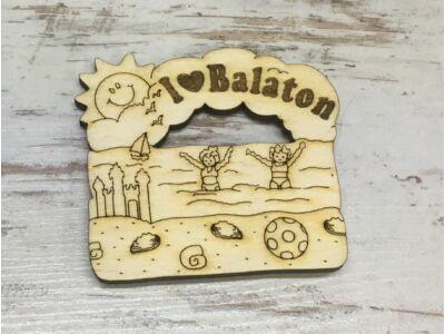 Natúr fa - Hűtőmágnes I love Balaton  7cm