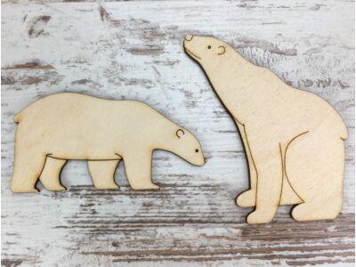 Natúr fa - Jegesmedvék 10cm
