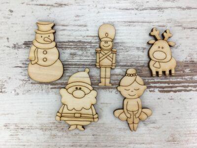 Natúr fa - Karácsonyi figurák 5cm