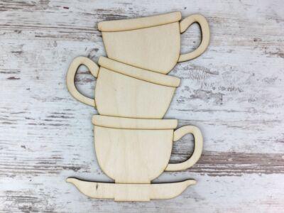 Natúr fa - Teás csészék 20cm
