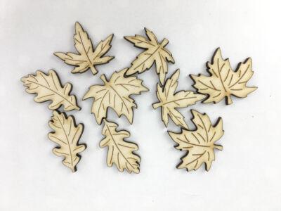Natúr fa - Őszi fa levelek 3,5cm 9db/csomag