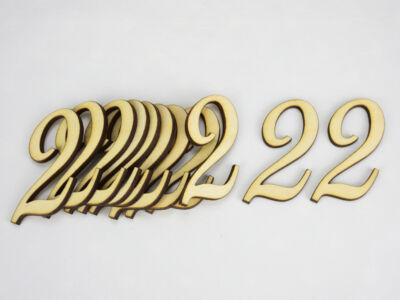 Natúr fa - Írott szám 5cm