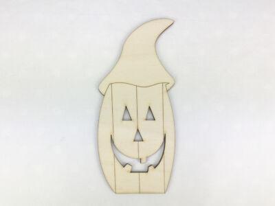 Natúr fa - Sapkás halloween tök 15cm
