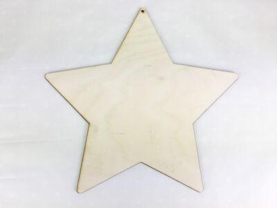 Natúr fa - Csillag nagy 26,5cm