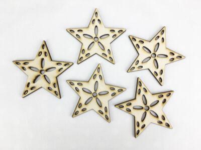 Natúr fa - Csipkés csillag 7cm