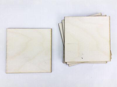 Natúr fa - Négyzet tábla 8x8cm 6db/csomag
