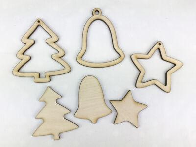 Natúr fa - Karácsonyfadísz szett